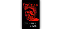 The Exploited - Lets start a war zászló